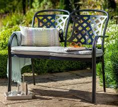 hartman berkeley 2 seater midnight black cast aluminium bench with