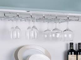 large image for hanging wine glass rack target white storage
