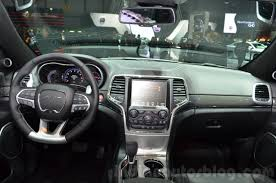 srt jeep 2016 interior 2016 jeep grand cherokee srt night dashboard at the geneva motor