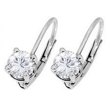 leverback diamond earrings 14k gold leverback cut diamond stud earrings 1 75 ct tw