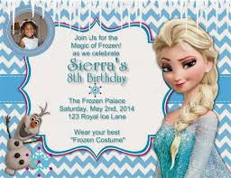 frozen birthday party invitation wordings tags frozen birthday
