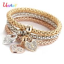 gold chain love bracelet images Bracelet fashion jewelry gold silver rose gold 3 color sets jpg