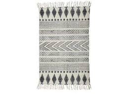 house doctor block rug cotton white grey 160x230 living and co
