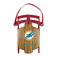 miami dolphins ornament metal sled miami dolphins miami and