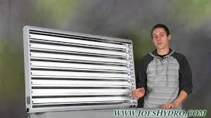 pioneer 4ft x 8 tube t5 fixture w grow bulbs out of the box youtube