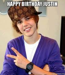 Justin Bieber Birthday Meme - happy birthday justin from your boy justin make a meme