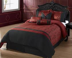 black and burgundy bed comforters cozybeddings 7pc comforter set