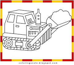 coloring pages printable for kids bulldozer coloring pages