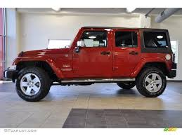 2011 Wrangler 2011 Flame Red Jeep Wrangler Unlimited Sahara 4x4 38917602