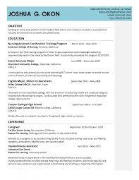 Entry Level Marketing Resume Cover Letter Certified Nursing Assistant Objective For Resume