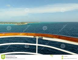 deck and rail on a cruise ship royalty free stock images image
