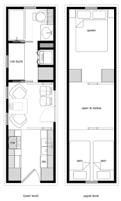 8x28 tiny house for a family of four two cribs a twin and a