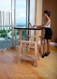 Stand Up Desk Ikea by Adjustable Standing Desk Plans Image Of Wood Standing Corner Desk