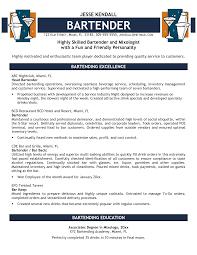 bartender resume templates bartender resume resume templates