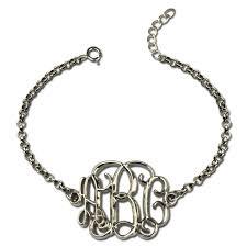 monogram initial bracelet monogram initial bracelet sterling silver