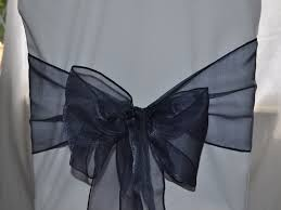 navy blue chair sashes wedding chair cover hire