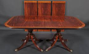 table fabulous duncan phyfe double pedestal dining room table