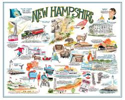 New England State Map by Pin By Diana Mcneil On Home State Of New Hampshire Pinterest