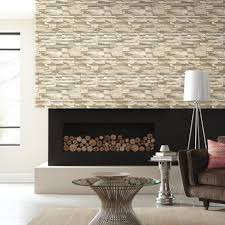 Peal And Stick Wall Paper Natural Stacked Stone Peel And Stick Wallpaper Roommates