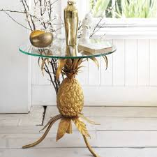 metallic home decor golden pineapple table graham u0026 green gold metallic homedecor
