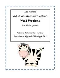 word problem addition and subtraction zoo animal addition subtraction word problems for kindergarten