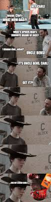 Carl Walking Dead Meme - the walking dead 23 of the funniest rick carl dad jokes