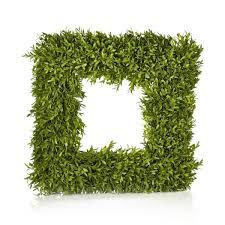 boxwood wreath 20 inch decorative boxwood square wreath free shipping today