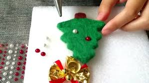 how to make needle felted christmas tree ornament feltify
