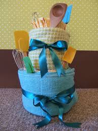 kitchen towel craft ideas dish towel and utensil cake another shower or housewarming