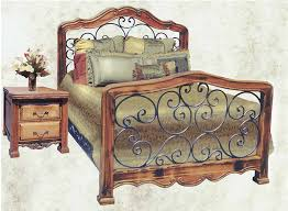 Wood And Iron Bedroom Furniture King Bed Bed Custom Bedroom Furniture Wrought Iron Bed