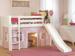 girls bunk bed with slide low loft beds twin size circles low loft bed in white finish