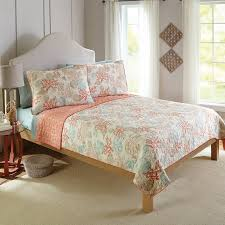 Seashell Duvet Cover Better Homes And Gardens Coral And Shells Bedding Quilt Set