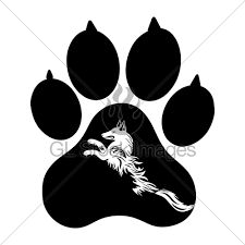 puppy animal paw tattoo of chinese new year of the dog ve gl