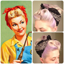 1940s bandana hairstyles thats how i roll hair pinterest pitch 1940s and 1950s