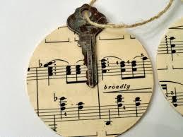 vintage key ornament diy rustic crafts chic decor