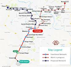Maryland Metro Map by Lucknow Metro Route Map