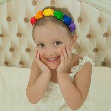 newborn headbands rainbow flower headband newborn headband rainbow crown