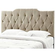 amazon com pulaski everly panel tufted linen headboard 6 0 6 6