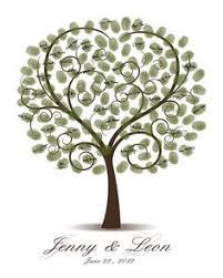 savannah live oak thumbprint tree wedding guestbook alternative