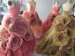 the beautiful garden costumes for the female ensemble