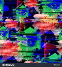 seamless pattern glitch design cyberpunk background stock