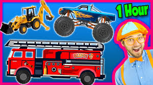 video truck monster videos for kids 1 hour compilation fire trucks monster trucks