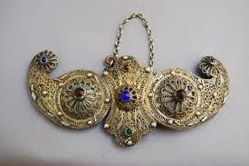 ottoman turkish silver filigree belt buckle antique ethnic