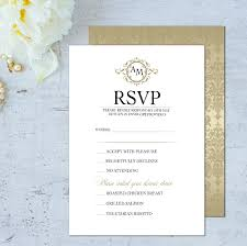 Invitation With Rsvp Card Wedding Rsvp Card Wedding Rsvp Cards Classic Rsvp Cards