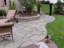 decor u0026 tips landscape design with flagstone pavers and flower