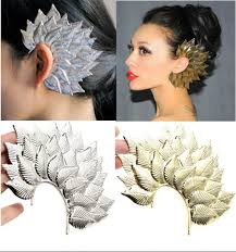 how to make feather ear cuffs 1pc hot fashion cool woman big leaf leaves