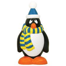 shop time pre lit penguin sculpture with constant clear