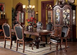 How To Set A Formal Dining Room Table Chateau De Ville Dining Table Acme Traditional Dining Room Sets