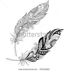 dotwork feather from the other day pattern feathers