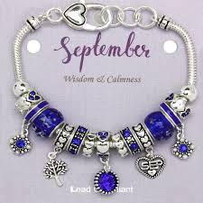 necklace pandora style images Sapphire september birthstone charm bracelet murano beads pandora jpg